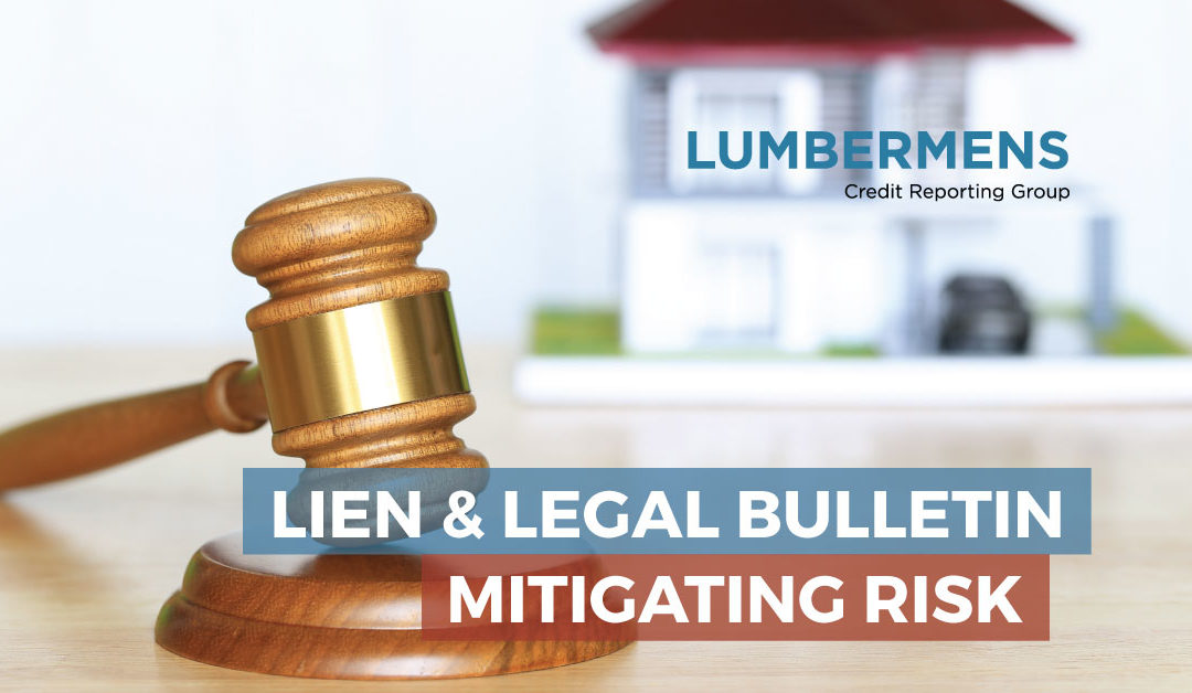 What is a Lien and Legal Bulletin